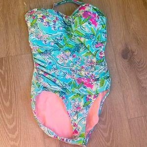 Lilly Pulitzer One Piece Swim Suit, size 12
